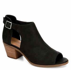 Lucky Brand  Barimo Leather Peep Toe Bootie